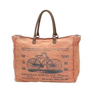 Handbags - Vintage canvas bicycle weekender bag